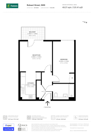 Large floorplan for Robsart Street, Stockwell, SW9