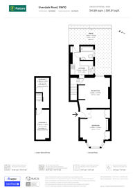 Large floorplan for Uverdale Road, Lots Road, SW10