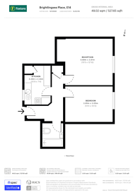 Large floorplan for Brightlingsea Place, Canary Wharf, E14