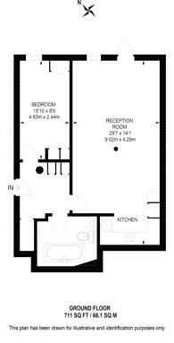 Large floorplan for Vauxhall, Vauxhall, SW8