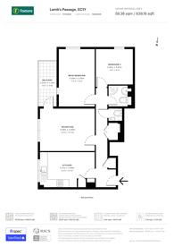 Large floorplan for Lambs Passage, Clerkenwell, EC1Y