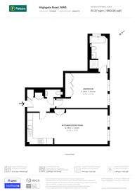 Large floorplan for Highgate Road, Kentish Town, NW5