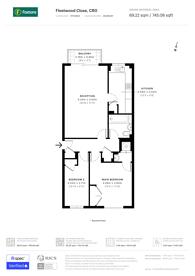Large floorplan for Fleetwood Close, East Croydon, CR0