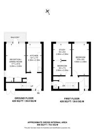 Large floorplan for Jamaica Street, Stepney, E1