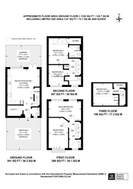 Large floorplan for Canfield Gardens, Queen's Park, NW6