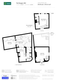 Large floorplan for The Paragon, Blackheath, SE3