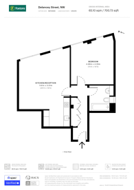 Large floorplan for Delancey Street, Camden, NW1