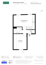 Large floorplan for Belgrave Gardens, St John's Wood, NW8