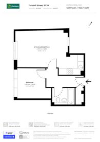 Large floorplan for Turnmill Street, Clerkenwell, EC1M