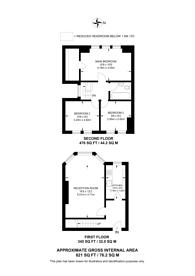 Large floorplan for Mount Road, Hendon, NW4