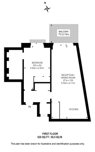 Large floorplan for Horseferry Road, Westminster, SW1P