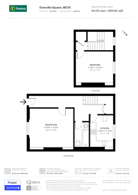 Large floorplan for Granville Square, Islington, WC1X