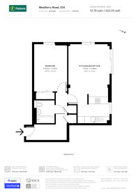 Large floorplan for Westferry Road, Canary Wharf, E14