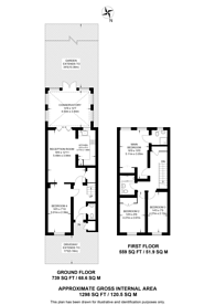 Large floorplan for Osier Crescent, Muswell Hill, N10