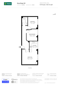 Large floorplan for Dove Road, East Canonbury, N1