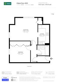 Large floorplan for Hillgate Place, Balham, SW12