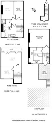 Large floorplan for Arundel Square, Islington, N7