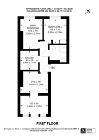 Large floorplan for Marchmont St, Bloomsbury, WC1N