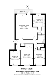 Large floorplan for St John's Avenue, Putney, SW15