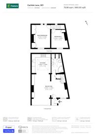 Large floorplan for Penhurst Place, Waterloo, SE1