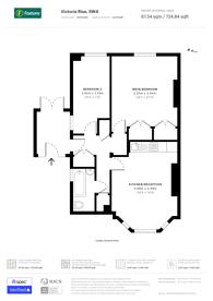 Large floorplan for Victoria Rise, Clapham, SW4