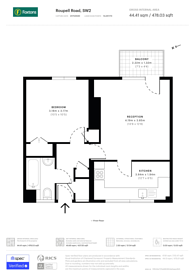 Large floorplan for Roupell Road, Brixton, SW2