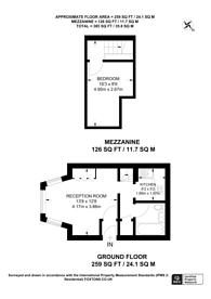 Large floorplan for Sutherland Avenue, Little Venice, W9