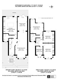 Large floorplan for Castleton Gardens, Wembley Park, HA9