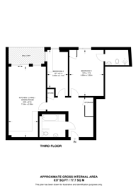 Large floorplan for Crondall Street, Shoreditch, N1