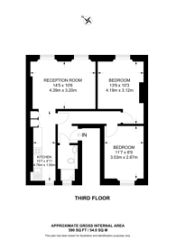Large floorplan for Cleveland Street, Fitzrovia, W1T