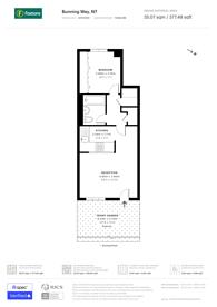 Large floorplan for Bunning Way, Islington, N7