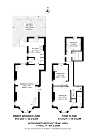 Large floorplan for Prince of Wales Drive, Prince of Wales Drive, SW11