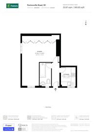 Large floorplan for Pentonville Road, Islington, N1