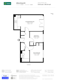 Large floorplan for Gifford Street, Islington, N1