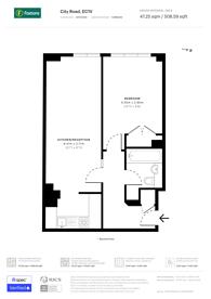 Large floorplan for City Road, City, EC1V
