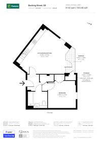 Large floorplan for Bocking Street, London Fields, E8