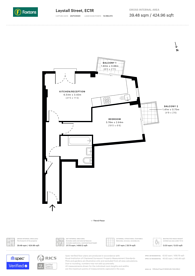 Large floorplan for Laystall Street, Clerkenwell, EC1R