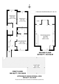 Large floorplan for Glentham Road, Barnes, SW13