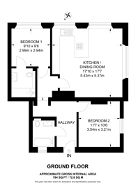 Large floorplan for Down Road, Merrow, GU1