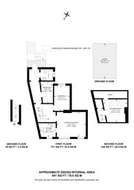 Large floorplan for Fawe Park Road, Putney, SW15