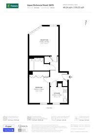 Large floorplan for Upper Richmond Road, East Putney, SW15