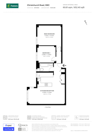 Large floorplan for Christchurch Road, Brixton Hill, SW2