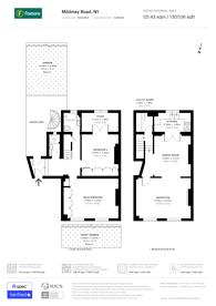 Large floorplan for Mildmay Road, Islington, N1