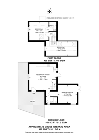 Large floorplan for Grasmere Avenue, Hounslow, TW3