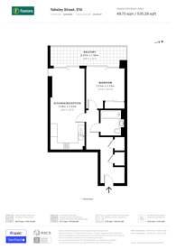 Large floorplan for Yabsley Street, Canary Wharf, E14