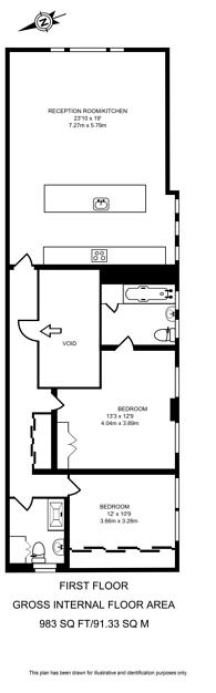 Large floorplan for St Helens Gardens, North Kensington, W10
