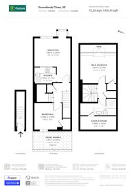 Large floorplan for Grovelands Close, Denmark Hill, SE5