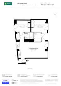Large floorplan for Old Street, Clerkenwell, EC1V