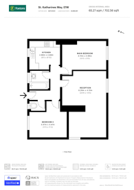 Large floorplan for St Katharines Way, Wapping, E1W