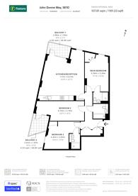 Large floorplan for John Donne Way, Greenwich, SE10